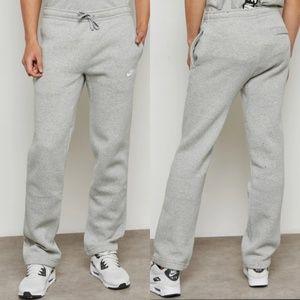 🎁Nike Mens Open Hem Fleece Sweat Pants